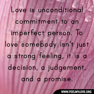 Love is unconditional commitment