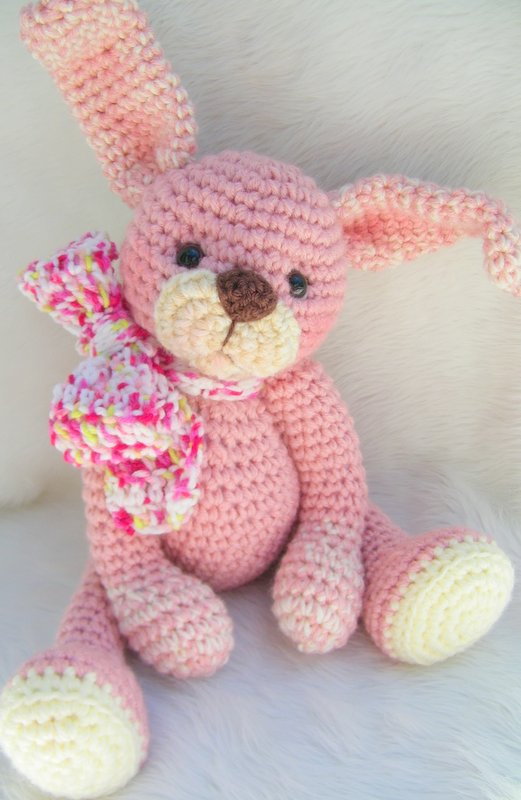 Crochet Patterns Rabbit : Teris Blog: Huggable Bunny New Crochet Pattern