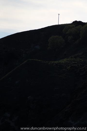 On a hill, far away, stood an old rugged cross... photograph