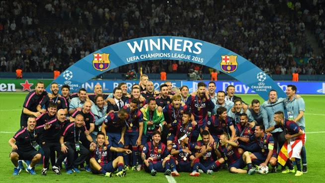 FC Barcelona, Campeón de la UEFA Champions League 2015. Derrota 1-3 a la Juventus; Ivan Rakitic, Luis Suárez y Neymar marcaron los goles