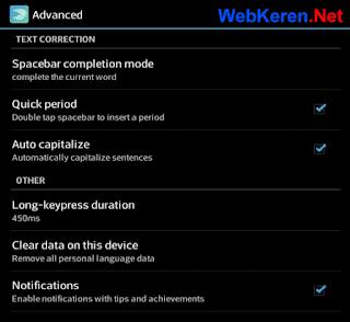 Pengaturan Mengetik Titik dengan Cepat Swiftkey Android