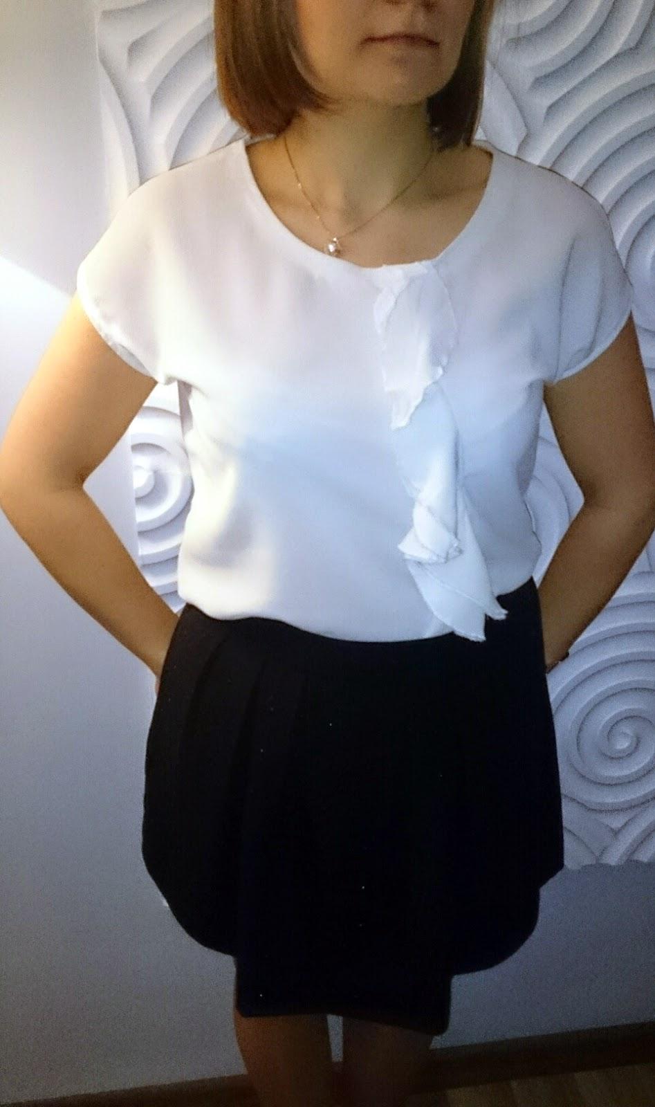 bluzka z żabotem diy, blog