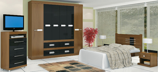 quarto de casal, simples, pequeno
