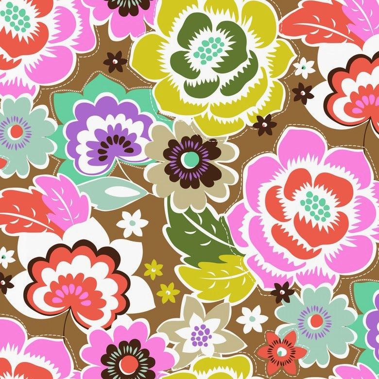 Tela de patchwork con flores