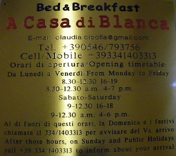 Targa e orari e contatti del b&b/Plaque and b&b timetable and contacts