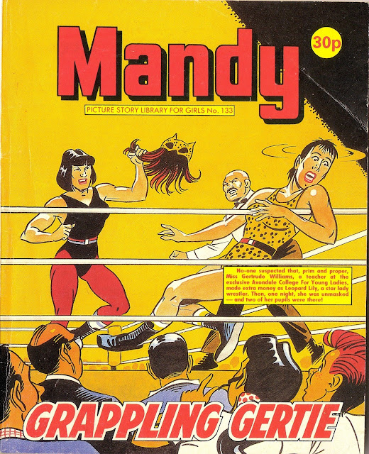 Grappling Gertie, womens wrestling comics, Mandy 133