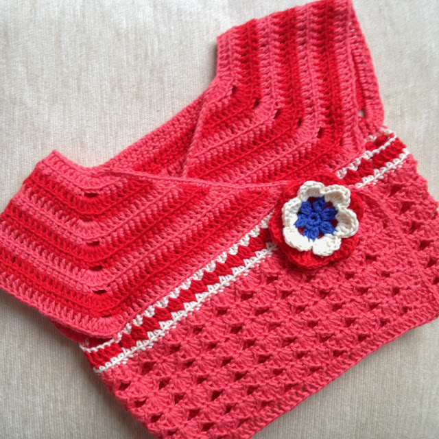 baby cardigan with a flower