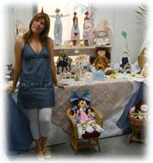 Exposición de mis muñecas de tela todas hechas a mano por mi.