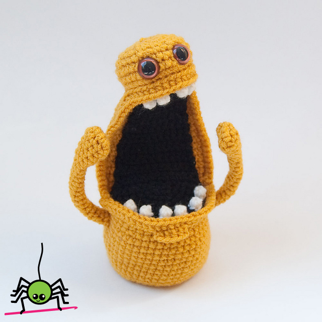 Amigurumi Monster Patterns : The Itsy Bitsy Spider Crochet: Amigurumi Monster