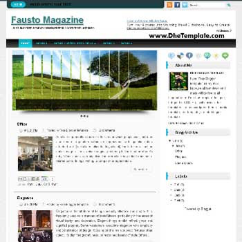 Fausto blogger template convert WordPress to Blogger template. magazine style template