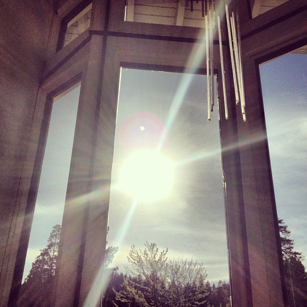 sun through the window