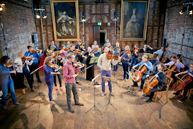 Hatfield House Festival Chamber Orchestra rehearsing in 2013