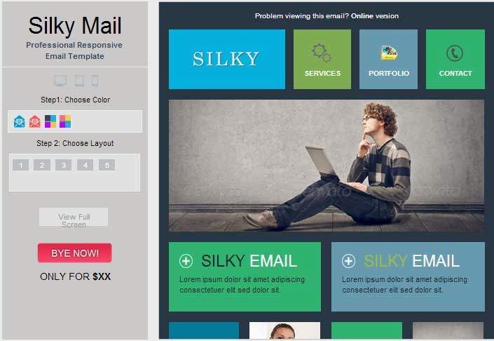 Silky – Colorful & Stylish Responsive Email