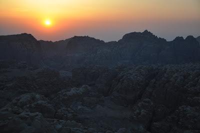 Atardecer sobre Wadi Musa