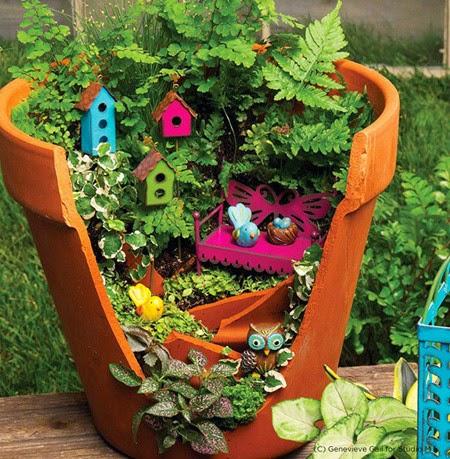 use broken vase to design the garden | Vietnam Outdoor Furniture
