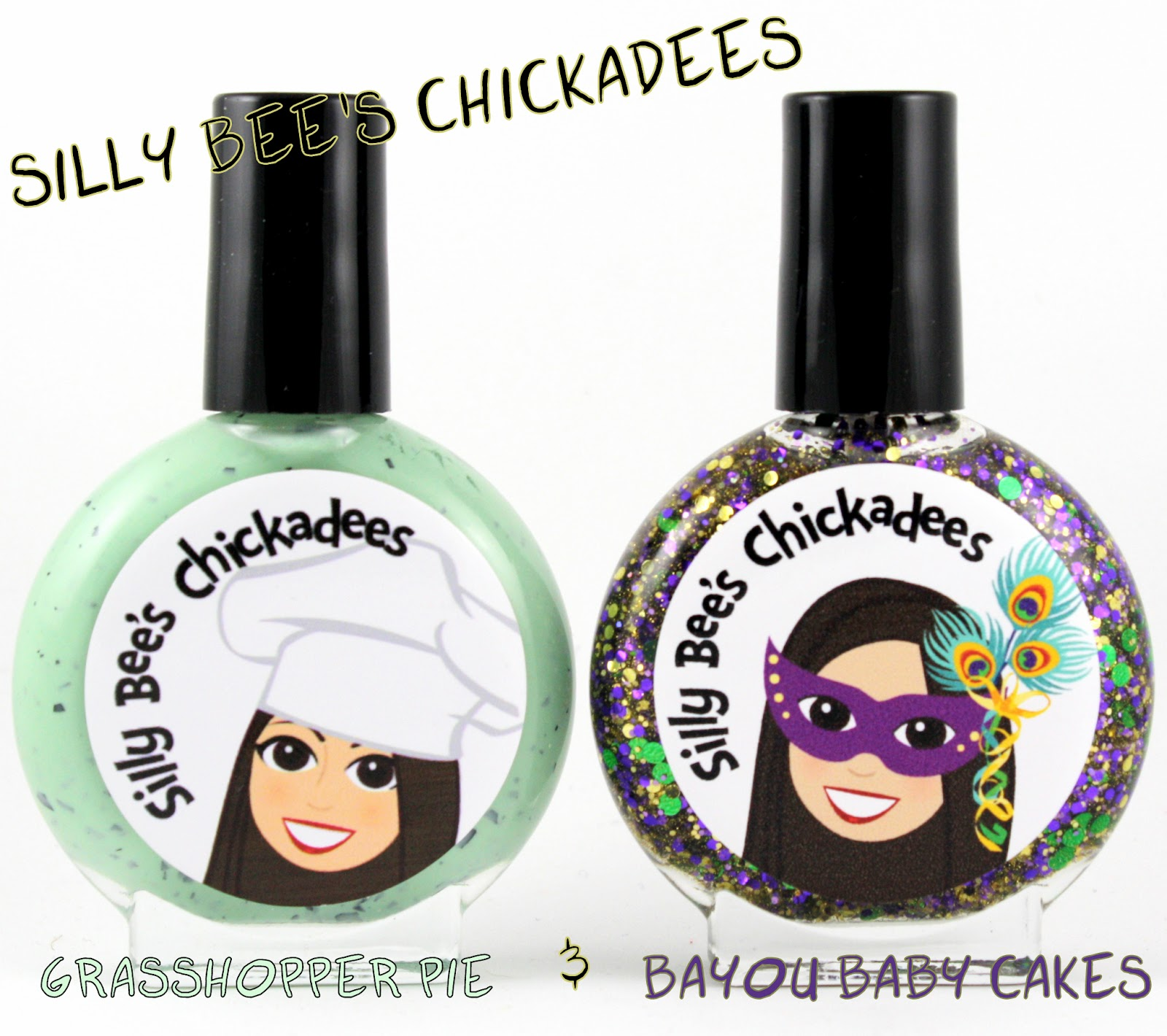 Silly Bee's Chickadees Grasshopper Pie and Bayou Baby Cakes
