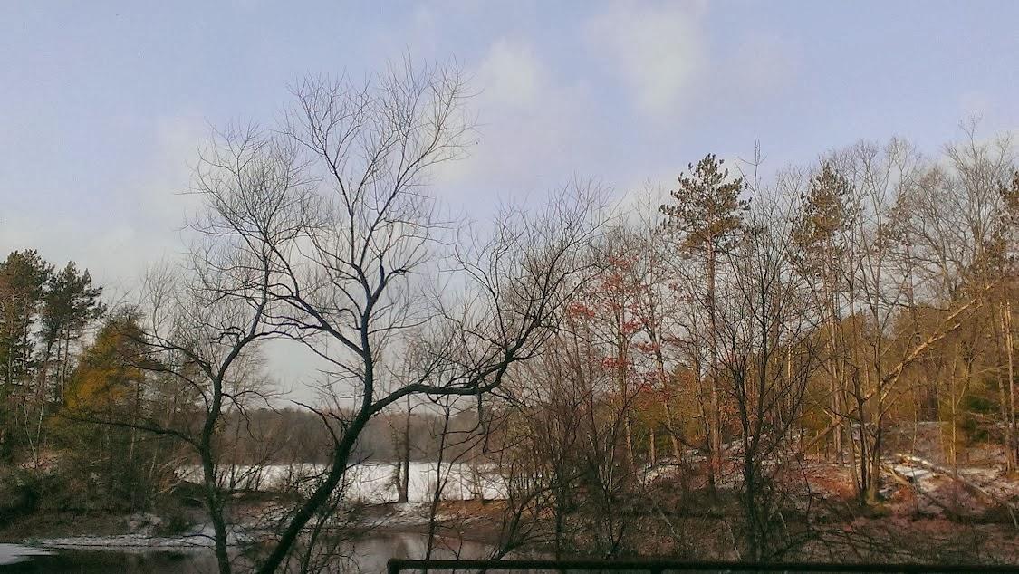 snow covered reservoir