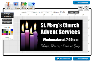 Advent Banner Template in the Online Designer