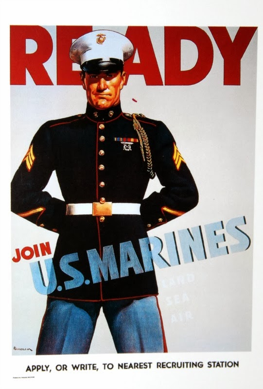 ready to join u.s marines poster