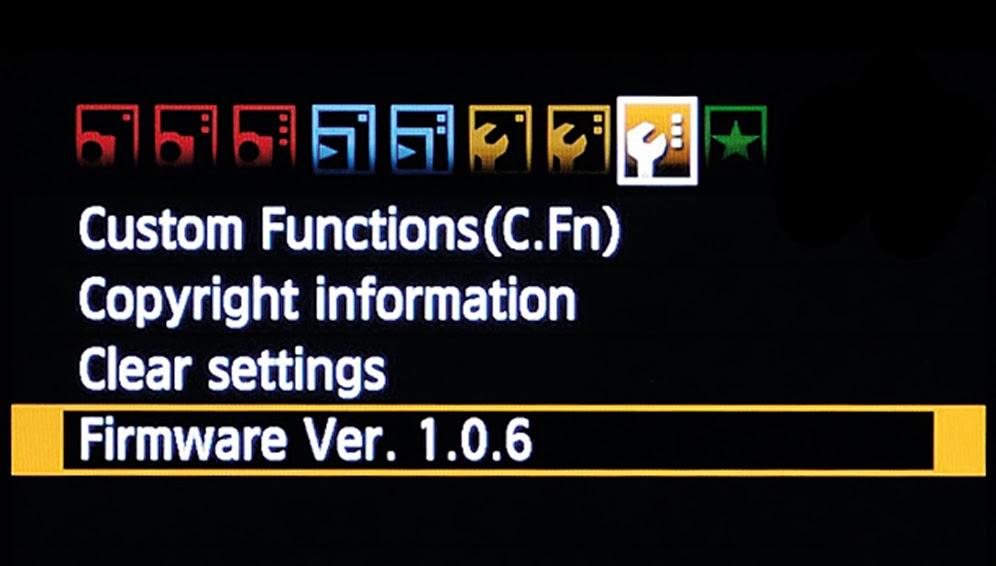 Digital Camera Firmware Update