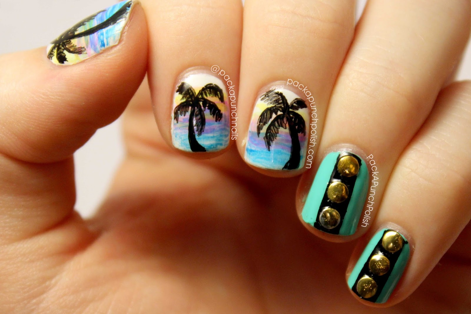 Nail Art Ideas » Nail Art Palm Trees - Pictures of Nail Art Design Ideas