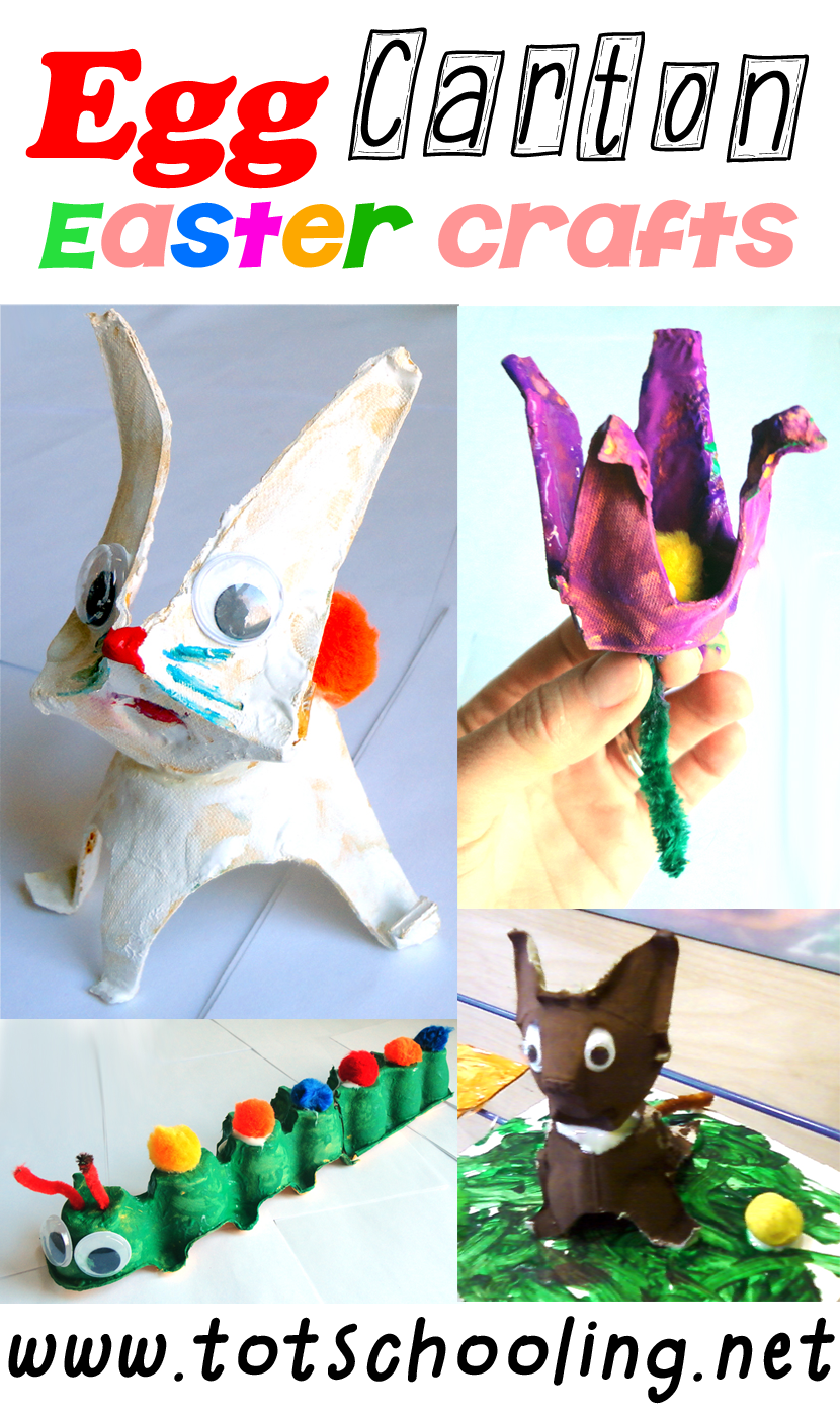 Egg Carton Easter Crafts - Tot Schooling