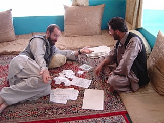 A man in Afghanistan learning a new language