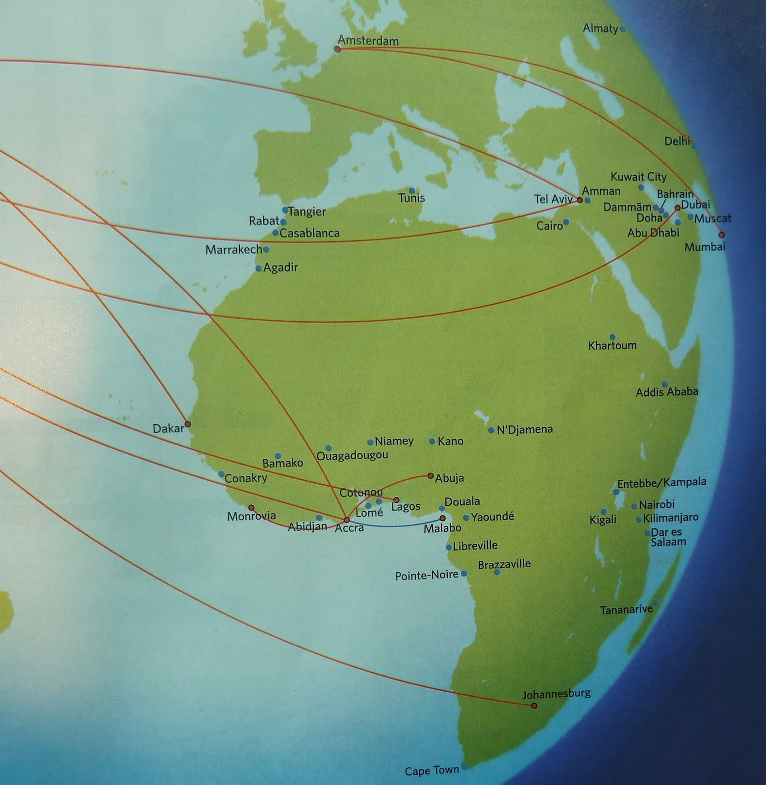 The Timetablist: Delta Air Lines: The African Routes, Summer 2011