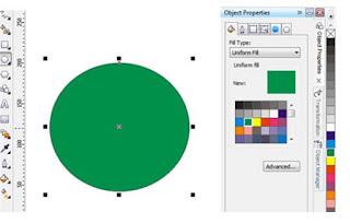 membuat lingkaran hijau