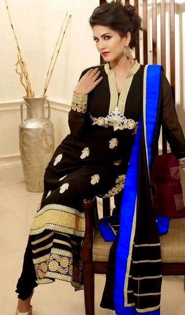 Sunny Leone Salwar Kameez Fashion 2014