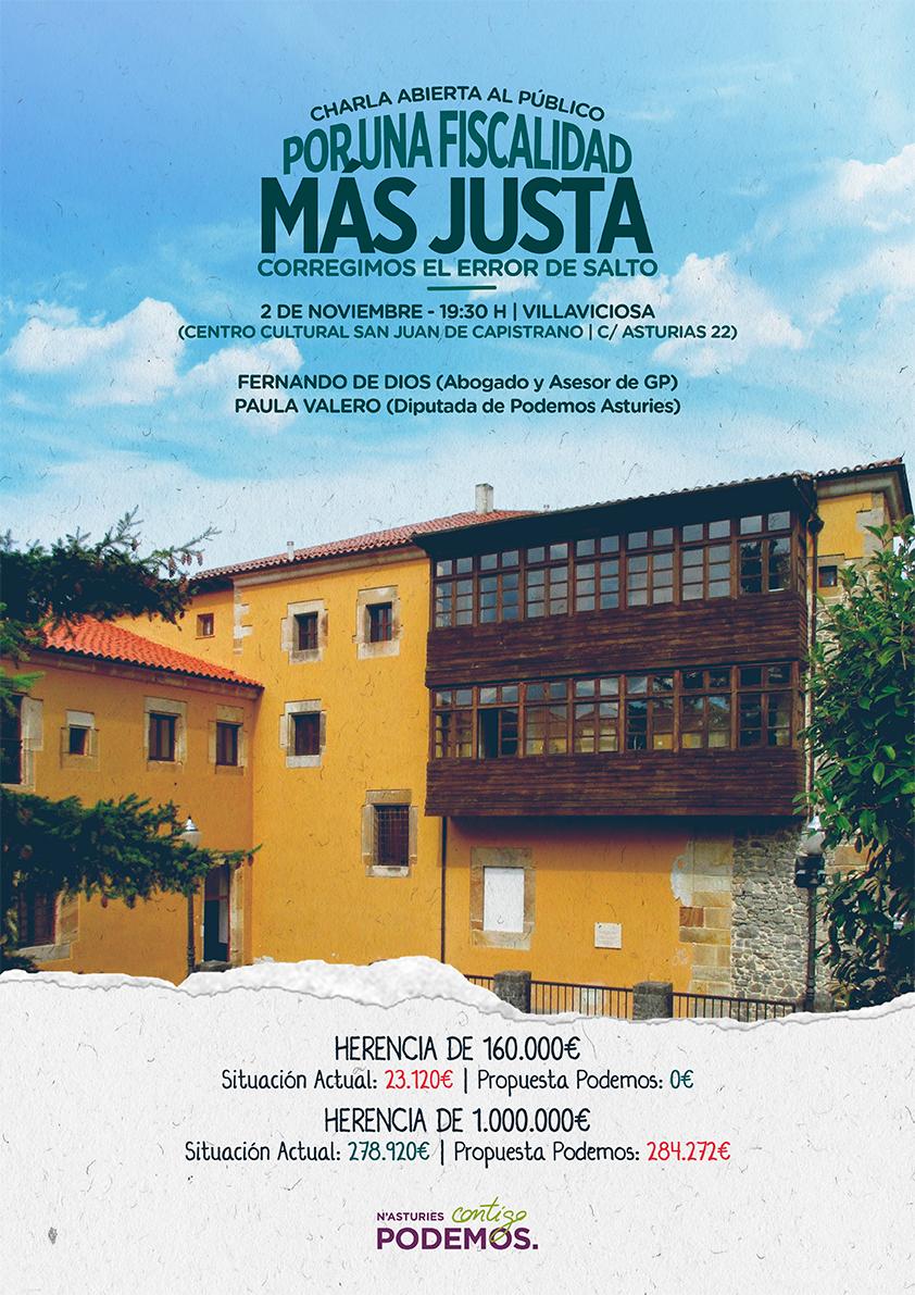 POR UNA FISCALIDAD MÁS JUSTA - 2 de nov a las 19,30 charla en El CAPISTRANO
