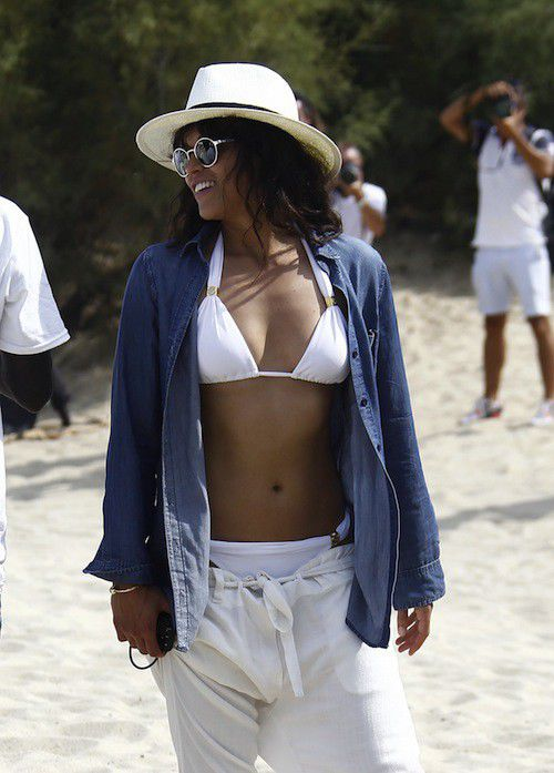 Michelle Rodriguez spend good time in Saint-Tropez