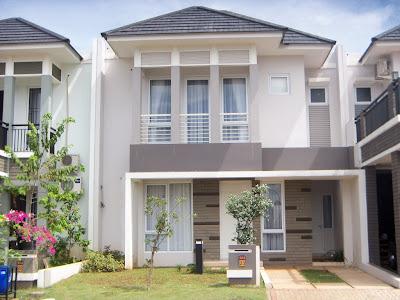 desain rumah dua lantai minimalis sederhana
