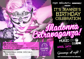 NYC: April 24th Madonna-thon/Jeannie's Birthday Extravaganza!