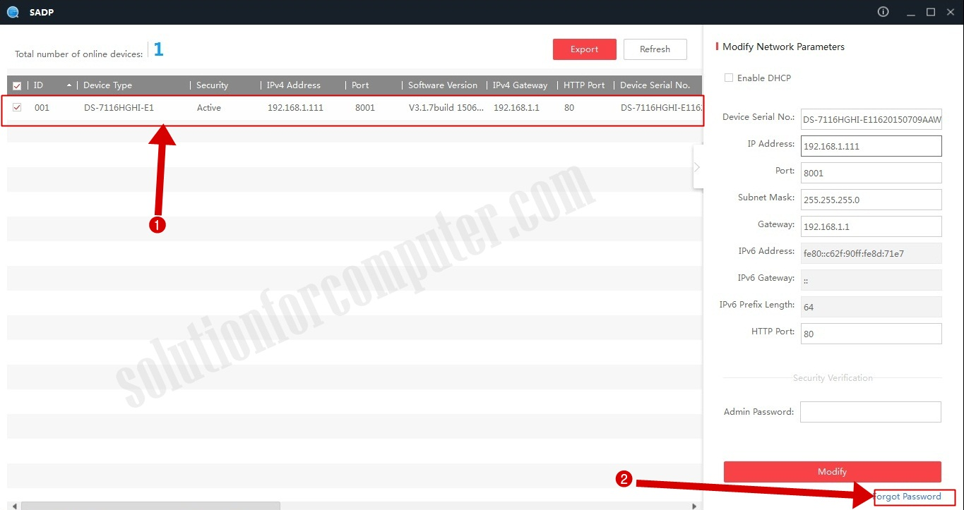 How to reset hikvision dvr password | Solution for ... Sadp Tool