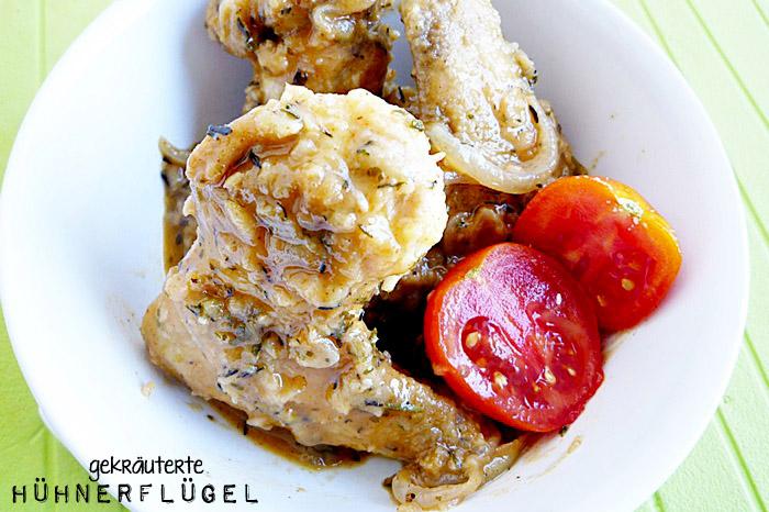 Gekräuterte Hühnerflügel