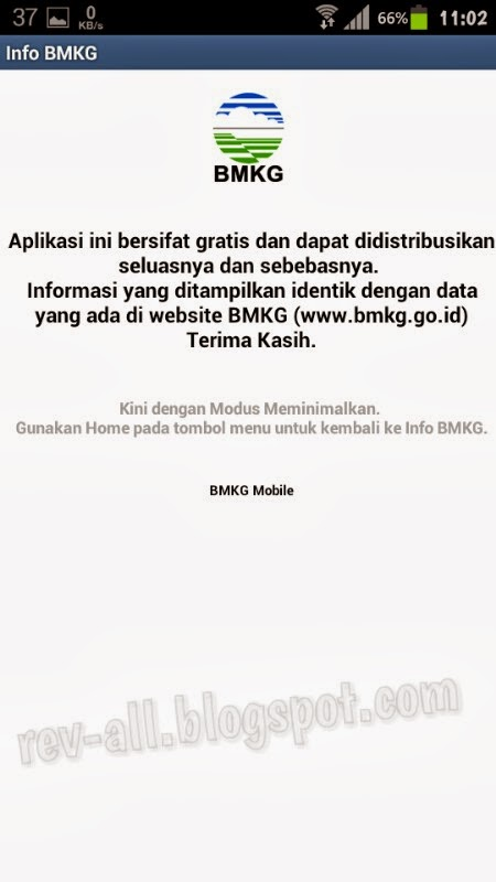 Tentang aplikasi info BMKG - informasi perkiraan cuaca dan gempa bumi terkini di Indonesia (rev-all.blogspot.com)