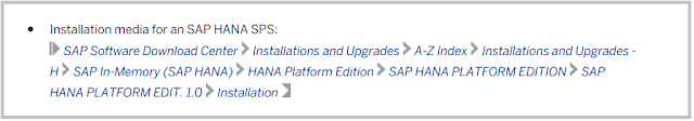 SAP HANA Installation Media path