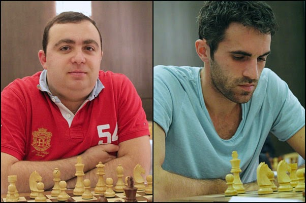 Le 12 avril 2015, dans la 6e ronde de l'Open de Dubaï, le grand-maître d'échecs géorgien Gaioz Nigalidze (à droite sur la photo) était apparié avec les Noirs contre le grand-maître arménien Tigran Petrossian