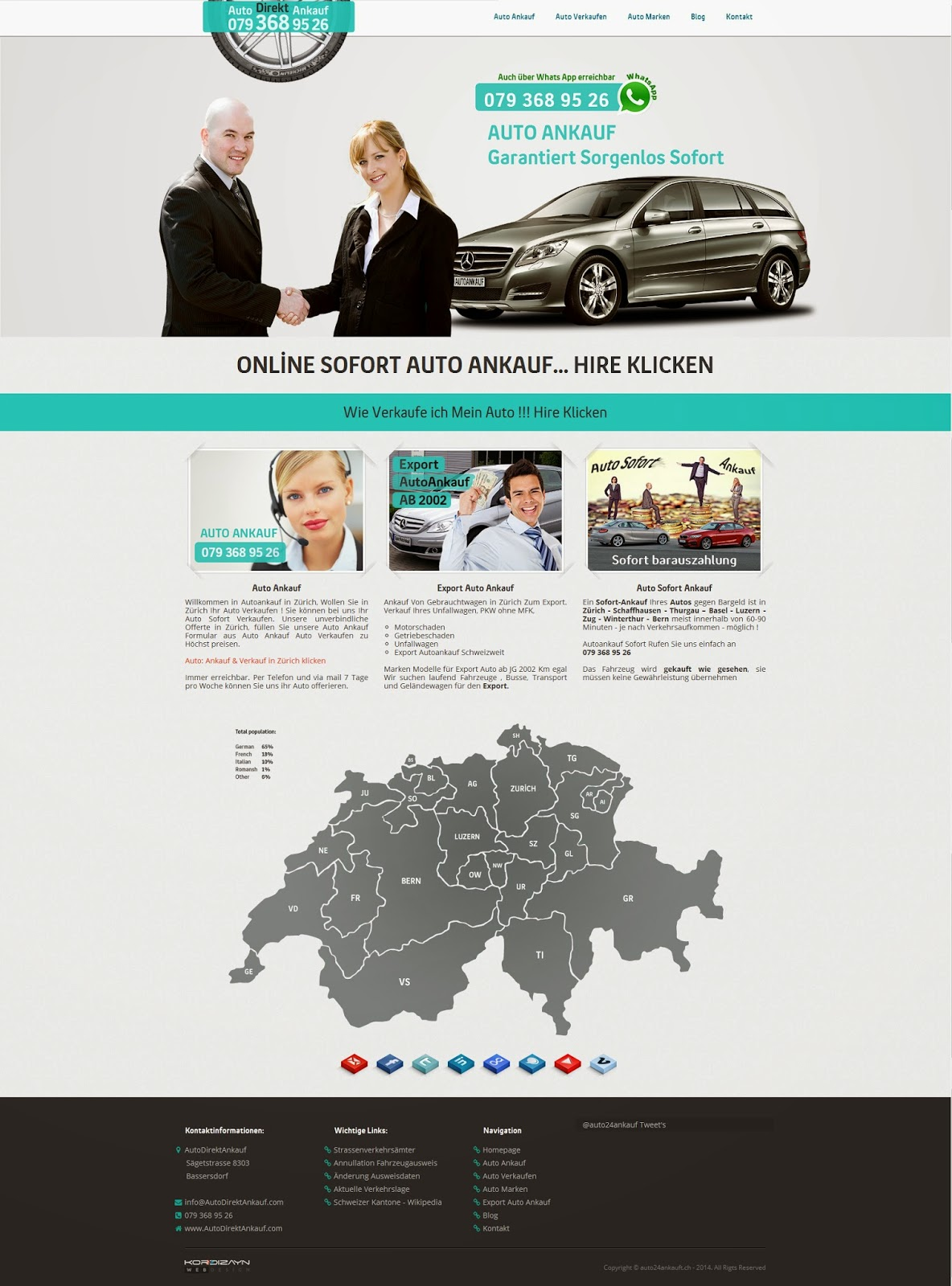 Auto Direkt Ankauf Web Tasarım