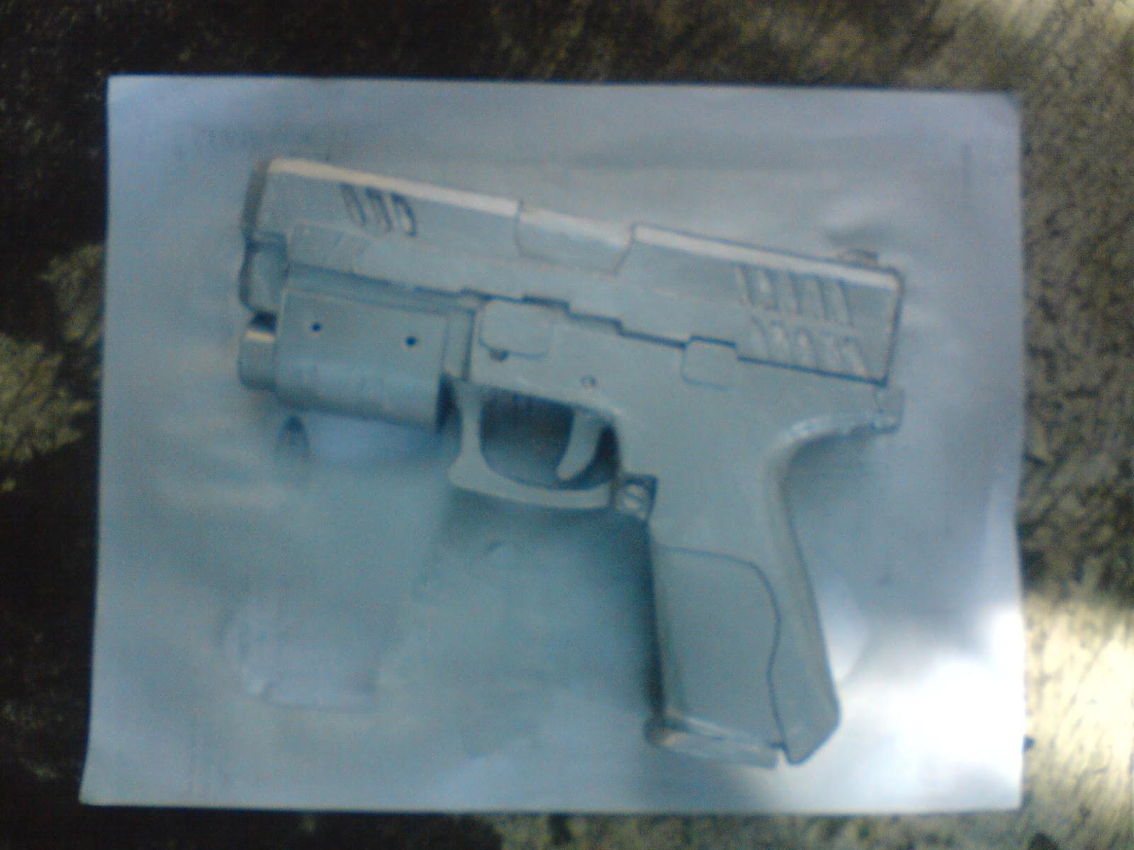Pistola Blacktail - Resident Evil DSC04489