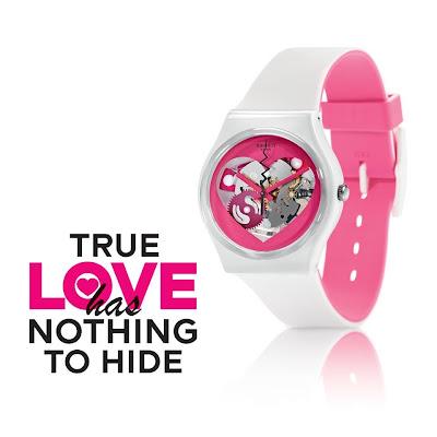 reloj, swatch, a la folie, love, san valentin, corazon
