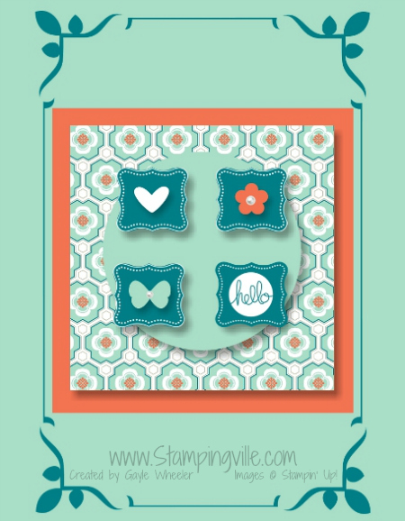 Stampin' Up! Sale-a-bration Digital Card Idea