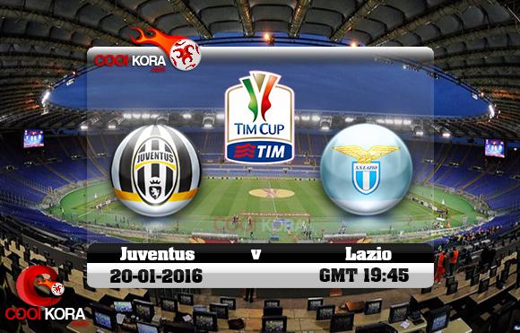 مشاهدة مباراة لاتسيو ويوفنتوس اليوم 20-1-2016 في كأس إيطاليا