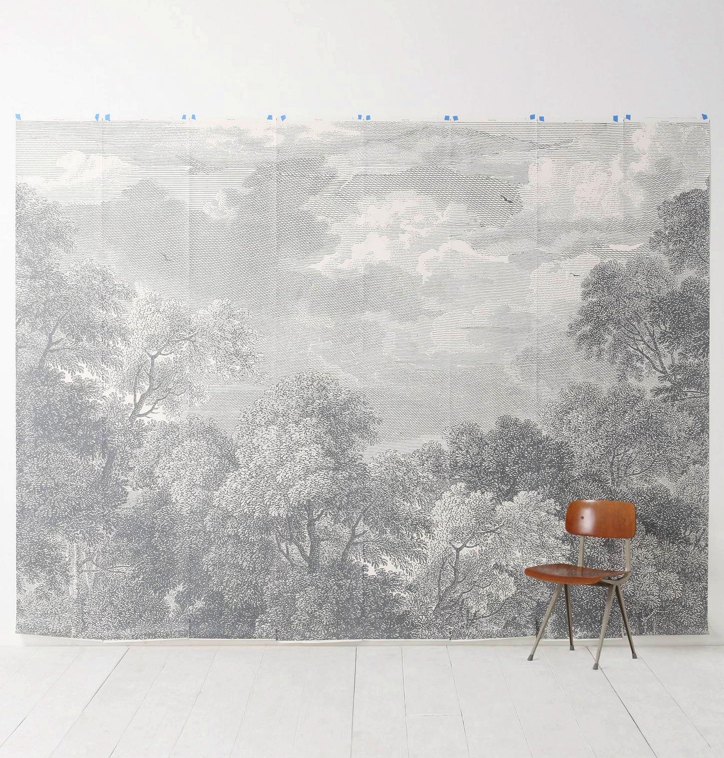 Trololo blogg how to fix a wallpapered wall for Anthropologie wallpaper mural