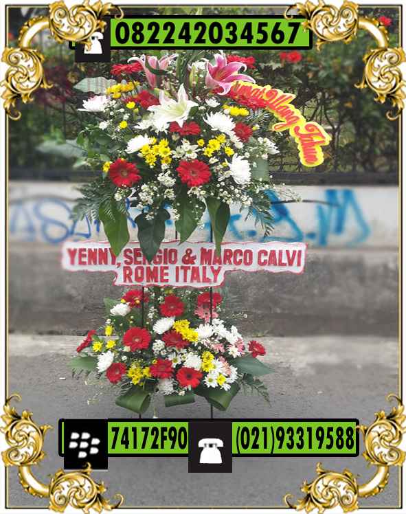 rangkaian bunga Standing Ucapan Selamat