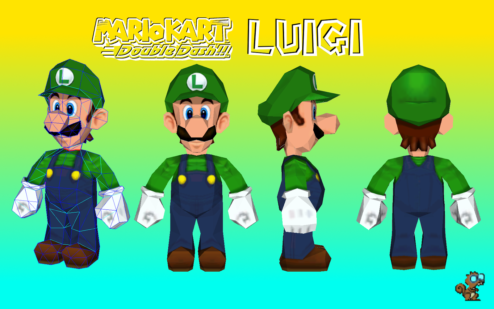 Double Dash Luigi Paper Model