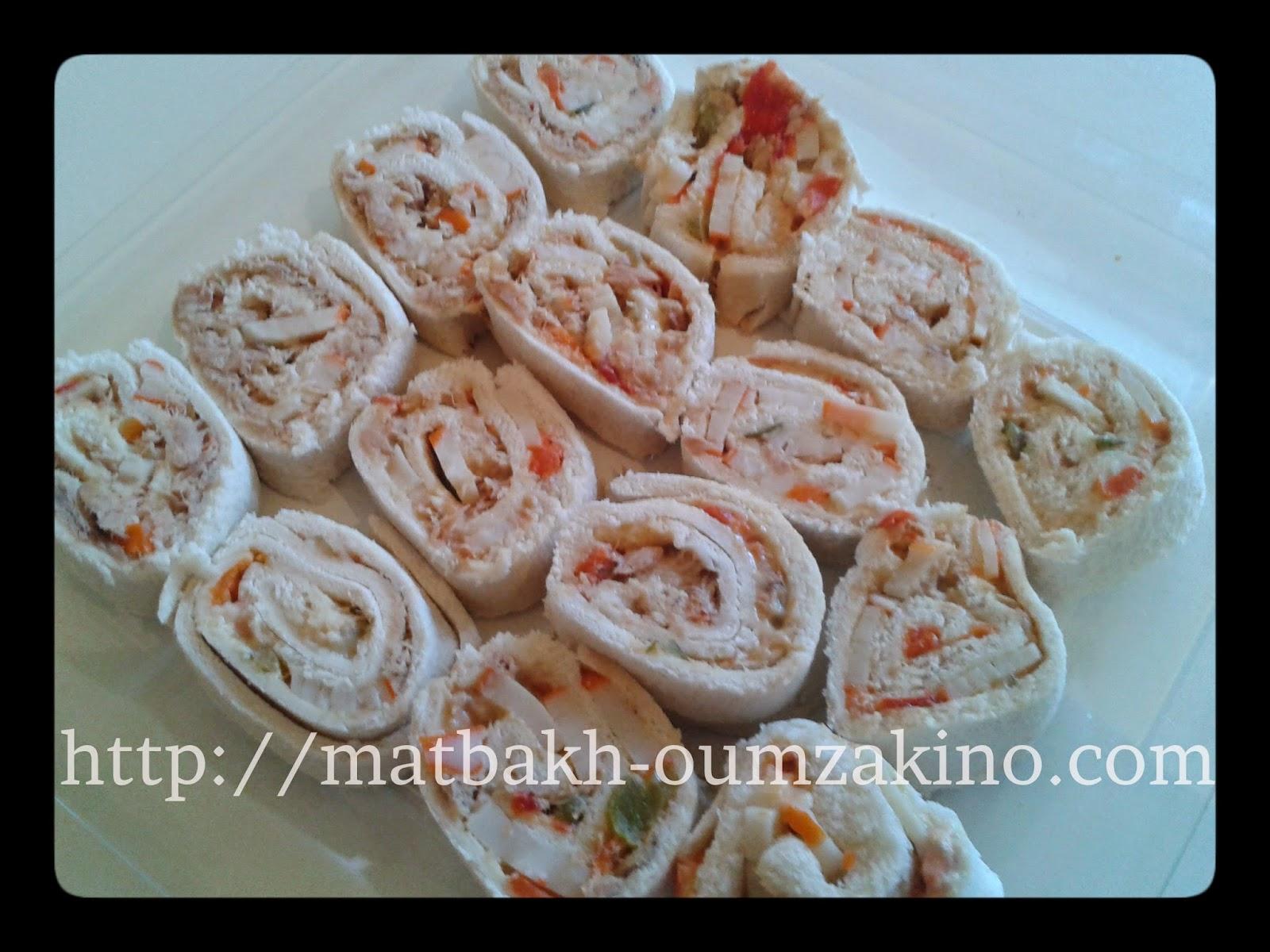 Mini roulé thon mayonnaise et surimi matbakh-oumzakino