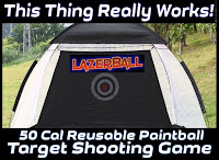 50 Caliber Paintball Target
