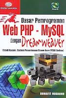 AJIBAYUSTORE  Judul Buku : Dasar Pemrograman Web PHP – MySQL dengan Dreamweaver (Studi Kasus : Sistem Penerimaan Siswa Baru (PSB) Online) Disertai CD Pengarang : Bunafit Nugroho Penerbit : Gava Media